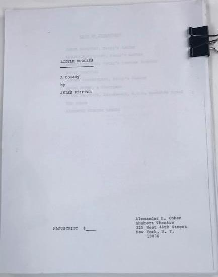 "Screenbid Media Company, LLC. - Copy of Megan's play ""Little Murders"""