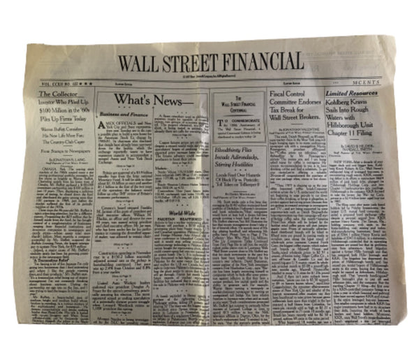 MAD MEN: Pete's Wall Street Financial Newspaper-1