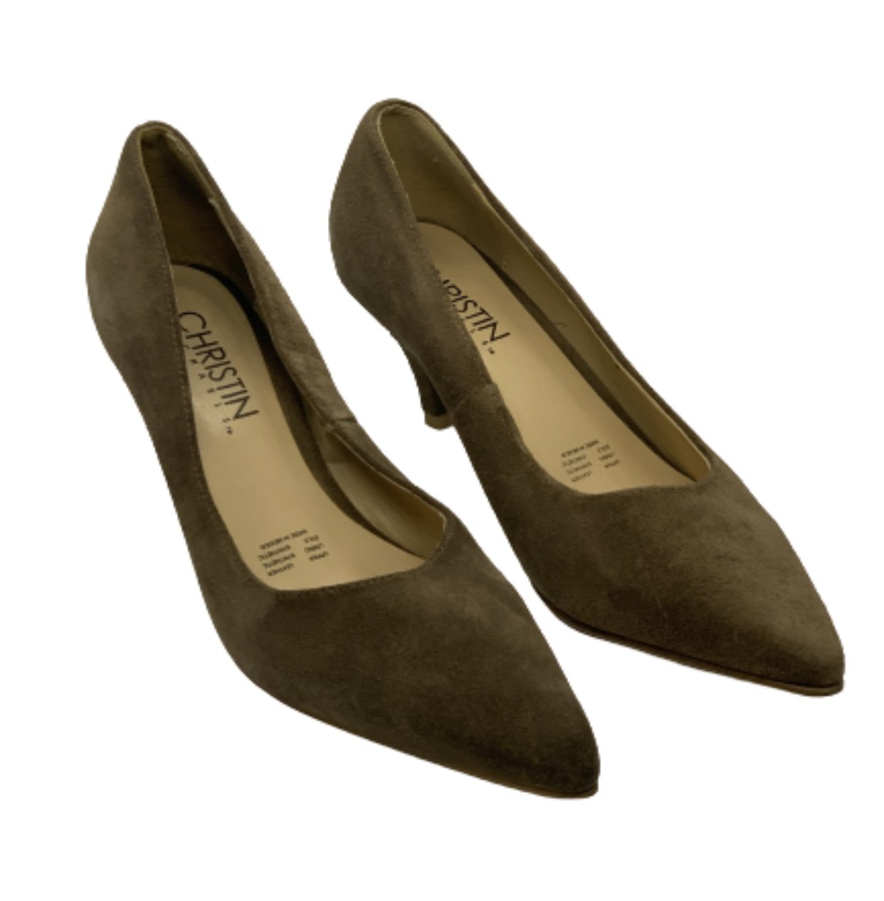 MAD MEN: Sally's Christin Michels Brown Leather High Heels. Size10
