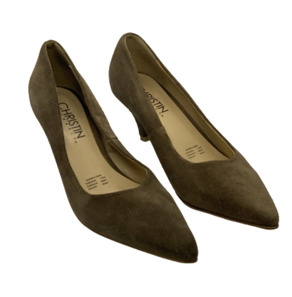 MAD MEN: Sally's Christin Michels Brown Leather High Heels. Size10-1