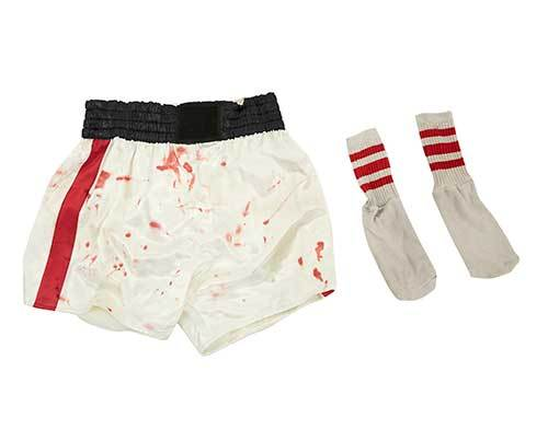 Masters' Stunt Double Bloody Boxing Shorts & Socks-1