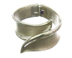MASTERS OF SEX: Libby's Silver Tone Leaf Cuff Bracelet