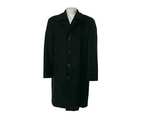 MAD MEN: Pete's Wool Grey Overcoat-1