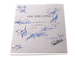 On The Line. Signed Script