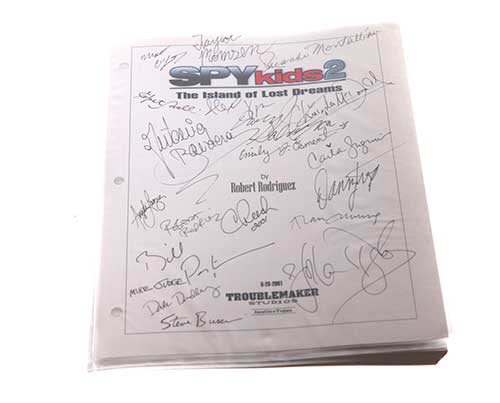 Screenbid Media Company, LLC. - Spy Kids 2. Signed Script