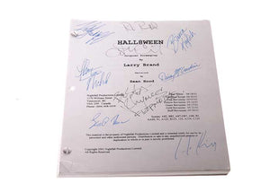 Screenbid Media Company, LLC. - Hall8ween. Signed Script