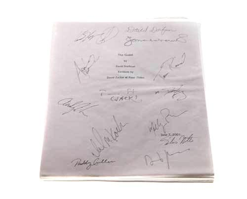 The Guest aka My Boss's Daughter: Cast/Director Signed Script-2