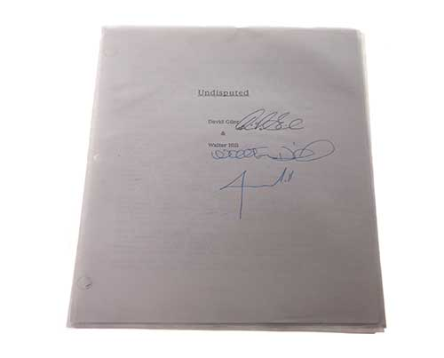 Undisputed. Signed Script with cast of characters list