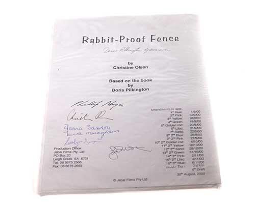Rabbit-Proof Fence. Signed Script