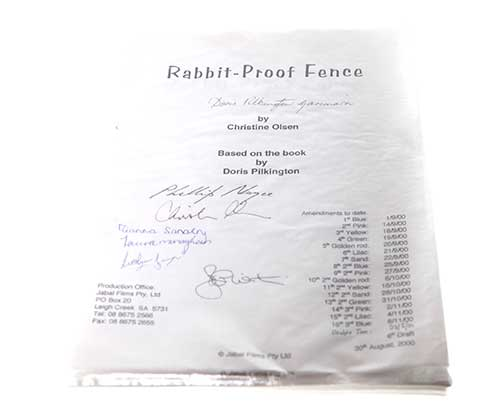 Rabbit-Proof Fence. Signed Script-1