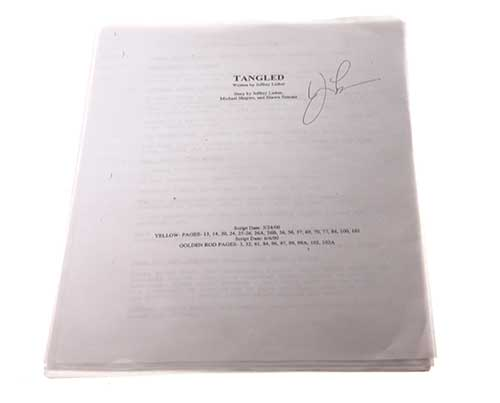 Screenbid Media Company, LLC. - Tangled. Signed Script