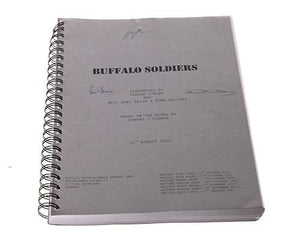Screenbid Media Company, LLC. - Buffalo Soldiers. Signed Script