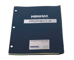 Screenbid Media Company, LLC. - Prophecy 3: The Ascent. Signed Shooting Script