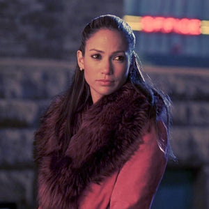 Screenbid Media Company, LLC. - Shall We Dance: Paulina's Pink Suede Coat With Fur Collar