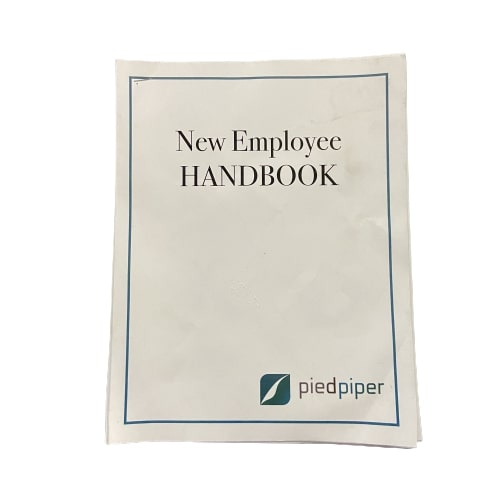 SILICON VALLEY: Pied Piper Blank New Employee Handbook