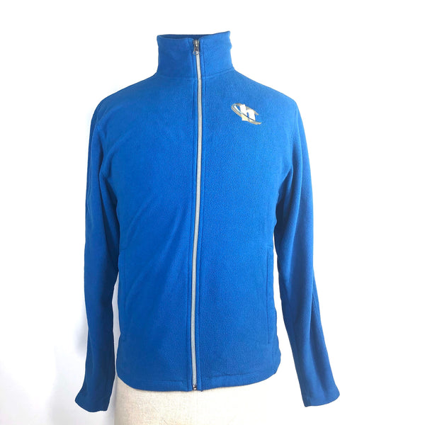SILICON VALLEY: Blue Hooli Fleece Zip Up Jacket-1