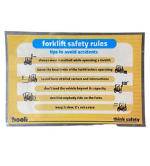 SILICON VALLEY: Hooli Forklift Safety Rules Laminated Poster