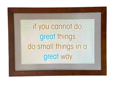 "SILICON VALLEY: Hooli ""If you cannot do great things..."" Framed Poster"