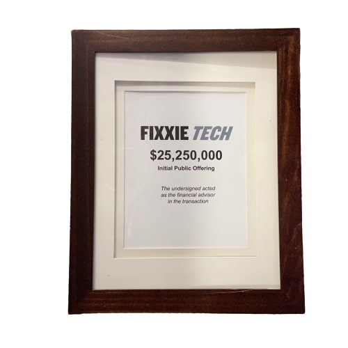 SILICON VALLEY:  Fixxie Tech Initial Public Offering