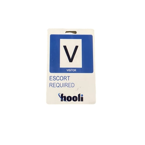 SILICON VALLEY: Hooli Visitor Escort Required Badge-1