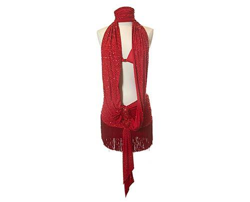 Screenbid Media Company, LLC. - Shall We Dance Red Tassel Dance Costume