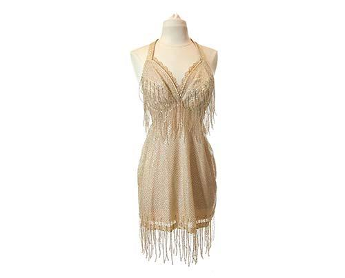 Shall We Dance Bobbie's Gold Beaded Tassel Dance Costume-2