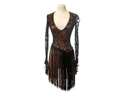 Shall We Dance Black Lace Dress