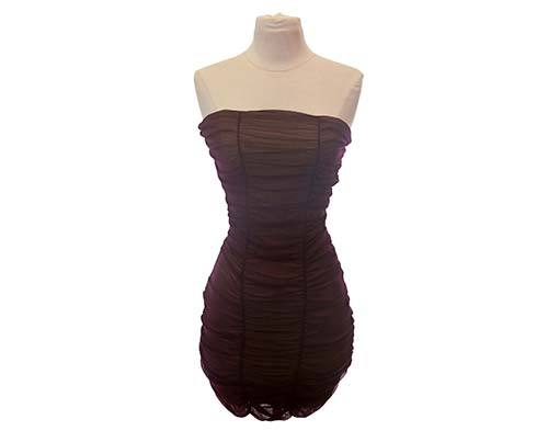 Shall We Dance Purple Ruched Tube Dress-1
