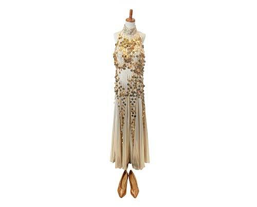 Shall We Dance Gold and Silver Halter Dance Costume-1