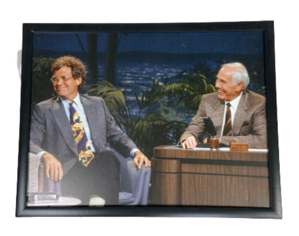 VEEP: Oval Office Framed Photograph of David Letterman & Johnny Carson-1