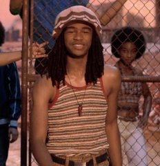 The Get Down - MC Luke Skywalker Cage's Striped Terry Cloth Tank Top