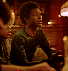 The Get Down - Ra-Ra Kipling's Dark Green Velvet Long Sleeve Shirt