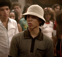 The Get Down - Silent Carlito's Brown Patterned Half Zip Polo