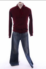 Gone Baby Gone: Angie's Maroon Sweatshirt Outfit