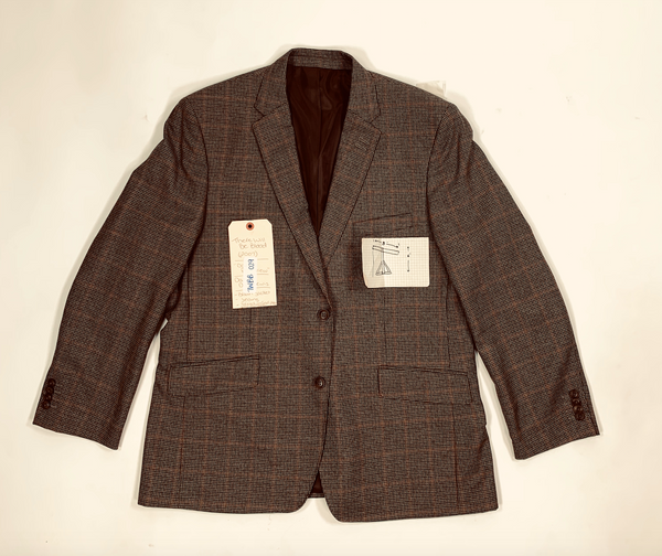 There Will Be Blood: Daniel's Brown Plaid Sport Coat and Oil Drilling Hand Drawn Design-2