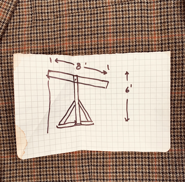 There Will Be Blood: Daniel's Brown Plaid Sport Coat and Oil Drilling Hand Drawn Design-3