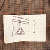 There Will Be Blood: Daniel's Brown Plaid Sport Coat and Oil Drilling Hand Drawn Design