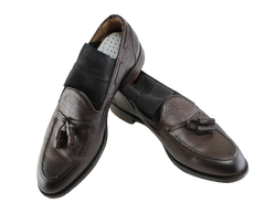 THE GENTLEMEN: Dry Eye's Brown Leather Loafers