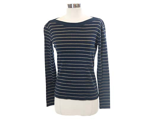The Cider House Rules: Candy's Striped Navy Shirt-2