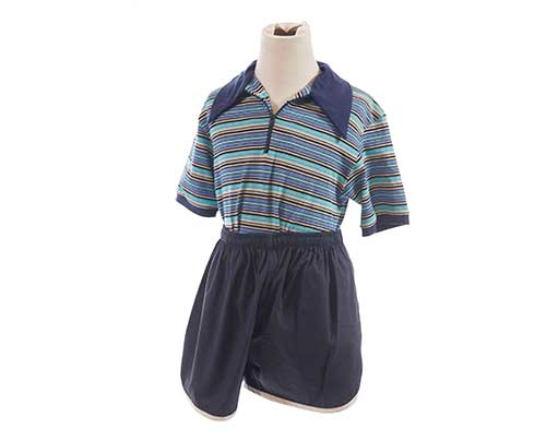 The Get Down - Boo-Boo Kipling's Hero Blue Stripe Polo with Running Shorts