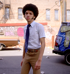 "The Get Down - Ezekiel ""Books"" Figuero's Hero Short Sleeve Button Up Shirt with Khakis"