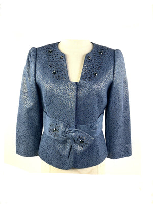 Screenbid Media Company, LLC. - Tahari Arthur S. Levine Luxe Embellished Light Blue Blazer