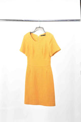 Amy's Yellow Orange Karen Millen Cotton Knit Dress