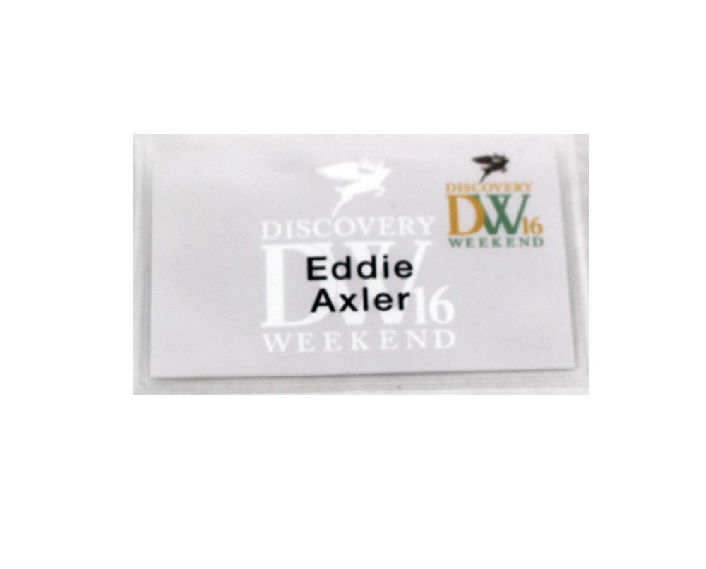 VEEP: Eddie's Discovery Weekend Name Tag
