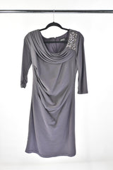 VEEP: ADRIANA PAPELL Purple Grey Dress