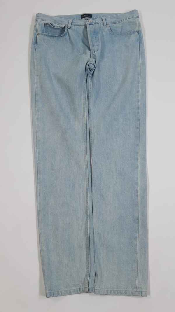 VEEP: Gary's APC Light Wash Blue Jeans-1