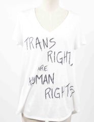 "VEEP: Catherine's White ""Trans Rights Are Human Rights"" Shirt from 707"