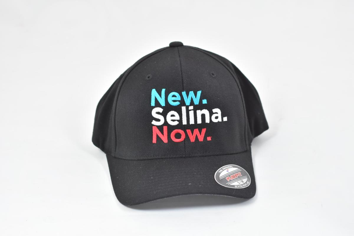 New Selina Now Black Baseball Cap