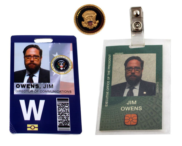 VEEP: Jim Owen's Director of Communications Badge & Pin-1