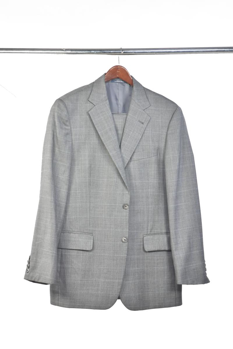 Joseph Abboud Grey Houndstooth Suit